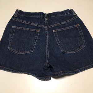 GAP High Rise Mom Jean Dark Wash Shorts 8